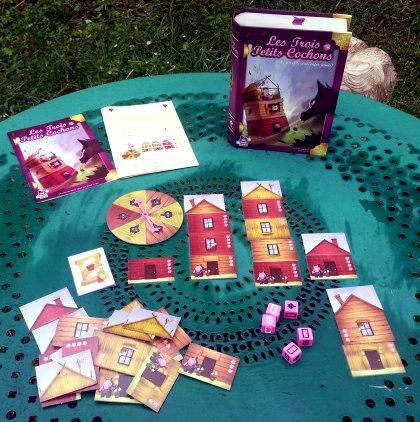 le jeu contes jeux les trois petits cochons laurent pouchain iello purple brain 2013. Black Bedroom Furniture Sets. Home Design Ideas
